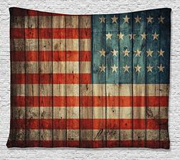 Ambesonne American Flag Tapestry Decor by, USA Flag Patrioti