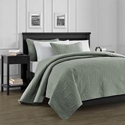 Chezmoi Collection Austin 3-Piece Oversized  Bedspread Cover
