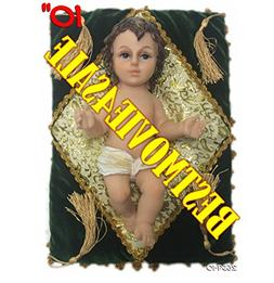 """Baby Jesus 10"""" Inch W/ GREEN Pillow-Nino Dios 10"""" Inches C/A"""