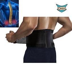 Back Brace Lumbar Support Belt with Dual Adjustable Straps f