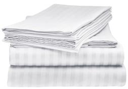 BAMBOO 1800 DEEP POCKET STRIPED BED SHEET SETS HYPOALLERGENI
