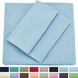 Premium Bamboo Bed Sheets - Queen Size, Baby Blue Sheet Set