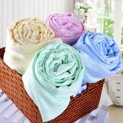Bamboo fiber cozy towel throws Air conditioning quilt bed sh