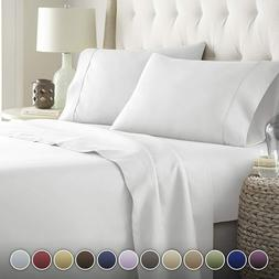 HC COLLECTION Bed Sheets Set, Hotel Luxury Platinum Twin Siz