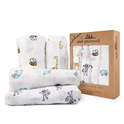 Bamboo Baby Swaddle Receiving Blankets – Super Soft and Co