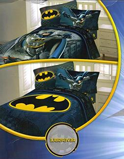 Batman Speed 5pc Full Comforter and Sheet Set Bedding Collec