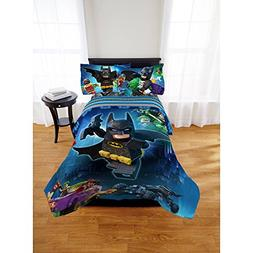 Lego Batman 4pc Twin Comforter and Sheet Set Bedding Collect