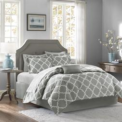 BEAUTIFUL CHIC MODERN REVERSIBLE BED IN  BAG BLUE GREY COMFO