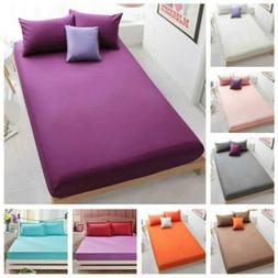 Bed Fitted Sheets Comfort Bedding Cover Bedclothes Full King
