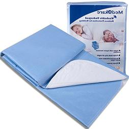 Medokare Bed Mat Bedwetting Underpads - Washable 2 Pack 34x3