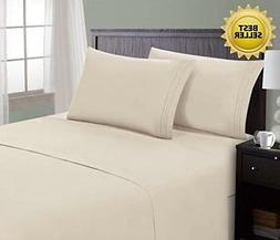 HC Collection Bed Sheet & Pillowcase Set HOTEL LUXURY 1800 S