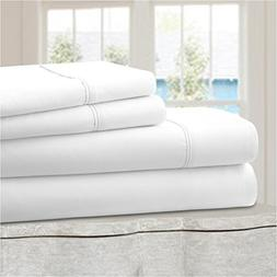Ideal Linens Bed Sheet Set - Velvety Double Brushed Microfib