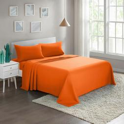 Soft 1800 Count 4-Piece Bed Sheet Set Twin Full Queen King B
