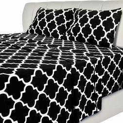 Printed Bed Sheet Set  1 Fitted Sheet 1 Flat Sheet 1 Pillowc