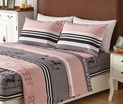 Bed Sheet Set 4-Piece,Brushed Microfiber 1500 Bedding.Extr