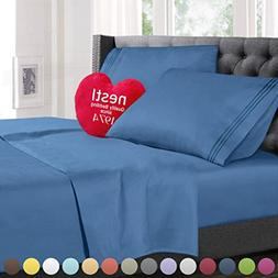 Full Size Bed Sheets Set Blue Heaven, Highest Quality Beddin