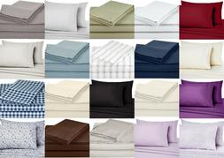 Bed Sheet Set Deep Pocket Bedding Sheets Egyptian Comfort Ho