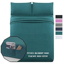 Luxe Manor Bed Sheet Set Twin 1800 Theard Count 4pc - Soft B