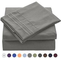 VEEYOO 1800 Thread Count Microfiber Bed Sheets Set Queen Siz