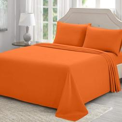 Bed Sheet Sets Twin Full Queen King Orange Hypoallergenic Br