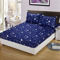 Bonenjoy Bed Sheet with Pillowcase Geometric Printed Fitted