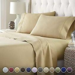 HC COLLECTION Bed Sheets Set, Hotel Luxury 1800 Series Egypt