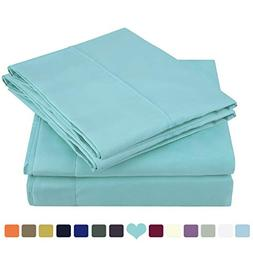 HOMEIDEAS Bed Sheets Set Brushed Microfiber 1800 Bedding She