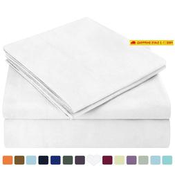 Homeideas Bed Sheets Set Extra Soft Brushed Microfiber 1800