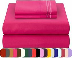 Mezzati Bed Sheets Set Soft Comfortable Brushed Microfiber B
