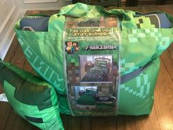 Minecraft Bedding Set Kids Twin Comforter Bed in bag Sheets