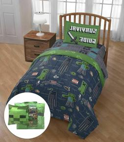 Minecraft Bedding Set Kids Twin Comforter Boys Bed Sheets 6