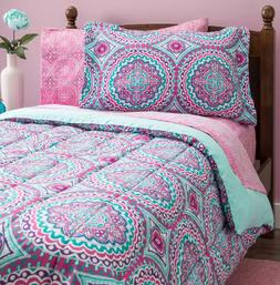 Bedding Sets Full for Teens Girls Kids Comforter Pink Mint G