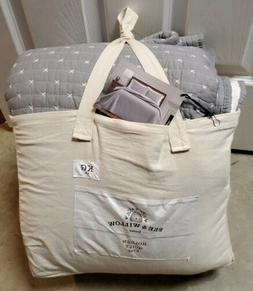 Bee & Willow Home Holden Reversible King Quilt in Grey