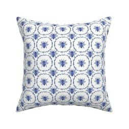 Bee Bees Honeybees Royal Queen Throw Pillow Cover w Optional