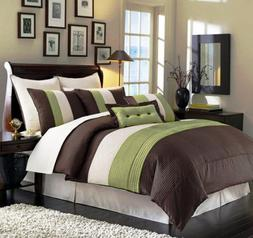 Chezmoi Collection 6-Piece Luxury Stripe Comforter Bed in a