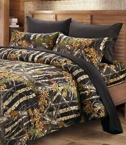 Sheets Full Black Camo Regal Comfort® The Woods© Gold Coll