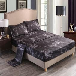 Black Marble Sheet Set Bed Sheets Fitted Sheet Flat Sheet Pi