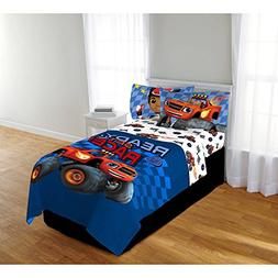 Blaze and the Monster Machines 4pc Twin Comforter and Sheet