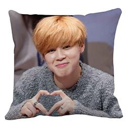 Bts Jimin Pillow cover Size 16x16 inch