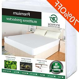 HYPNOS King Size Mattress Pad Protector - Premium Waterproof