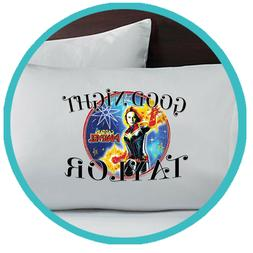 Captain Marvel Pillowcase Pillow Case Gift Gifts Bedding She