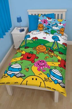 Character Mr Men and Little Miss Village Rotary Single Duvet