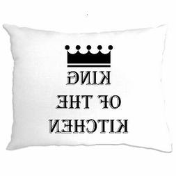 Chef's Cooking Pillow Case King Of The Kitchen Slogan Cook B