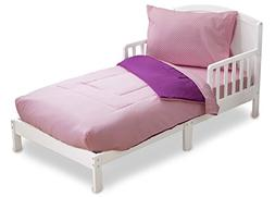 Toddler Bedding Set   Girls 4 Piece Collection   Fitted Shee