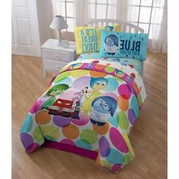 Disney Pixar Inside Out 4pc Twin Comforter and Sheet Set Bed