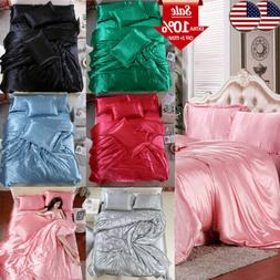 China Solid Sheets Silk Pillowcase Bedspreads Cover Summer B