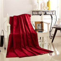 Chinese mulberry silk bed sheet blankets velvet throws bed c