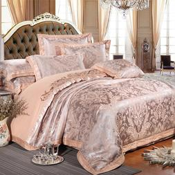 Chinese wedding style Jacquard bedding 100%cotton Embroidere