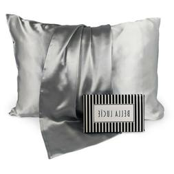 100% Pure Mulberry Silk Pillowcase, Luxurious 22 Momme 2 col