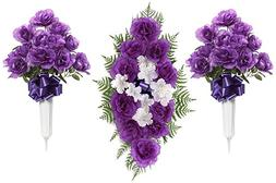 Teters Floral Products CMB0002PRCOM 26-Inch Purple Rose Head